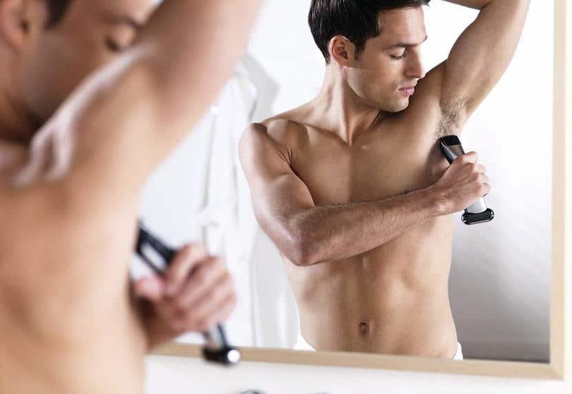 uso de afeitadora corporal